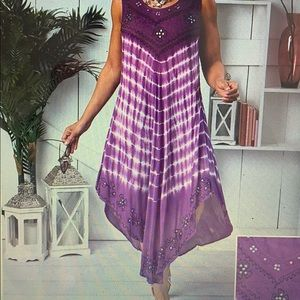 Woman's Plus Embroidered Sleeveless Dresses